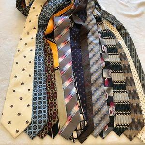 Lot Bundle Of 15 100% Silk Men's ties